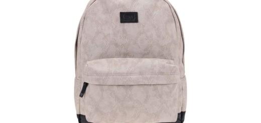 93072dd800 Světle šedý batoh se vzorem hadí kůže Vans Cameo